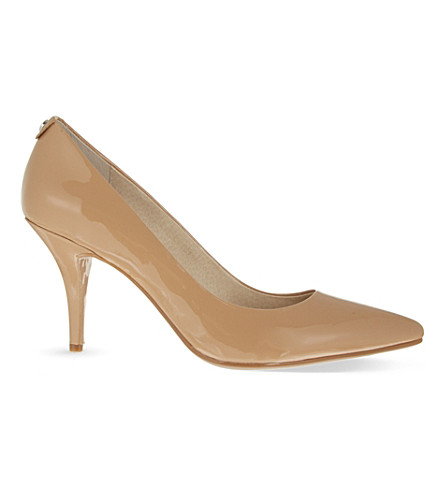 MICHAEL MICHAEL KORS Flex patent-leather courts (Nude