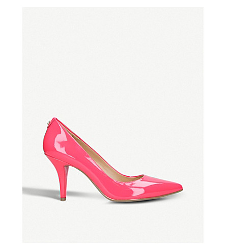 MICHAEL MICHAEL KORS Flex patent-leather mid courts (Fushia