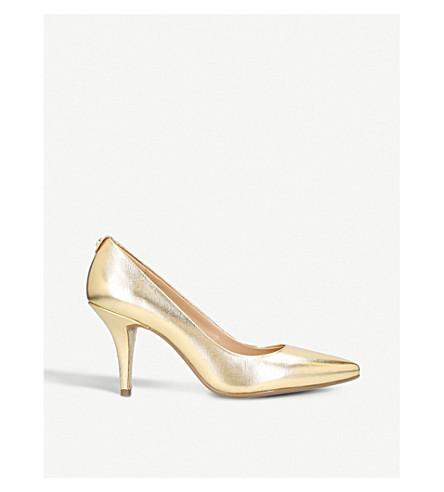 MICHAEL MICHAEL KORS Flex metallic leather mid courts (Gold