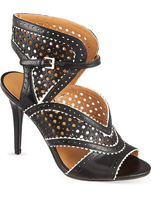 NINE WEST Danyell perforated heeled sandals