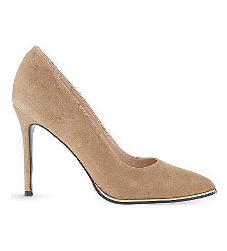 KG KURT GEIGER Beauty suede courts (Nude