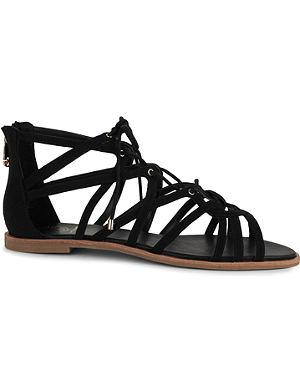 KG KURT GEIGER Maisy lace-up flat sandals