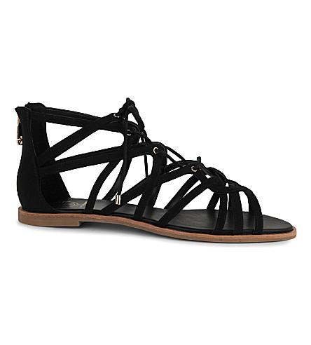 KG KURT GEIGER Maisy suedette sandals (Black