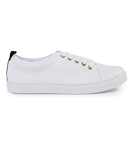 KG KURT GEIGER Lava leather lace-up sneakers (White