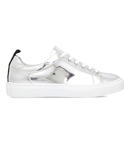 KG KURT GEIGER Lava metallic-leather trainers (Silver
