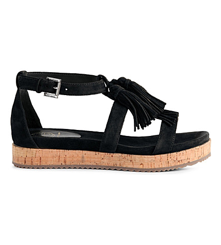 KG KURT GEIGER Meadow suede sandals (Black