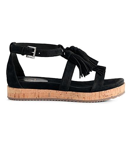 KG KURT GEIGER Meadow suede sandals (Black