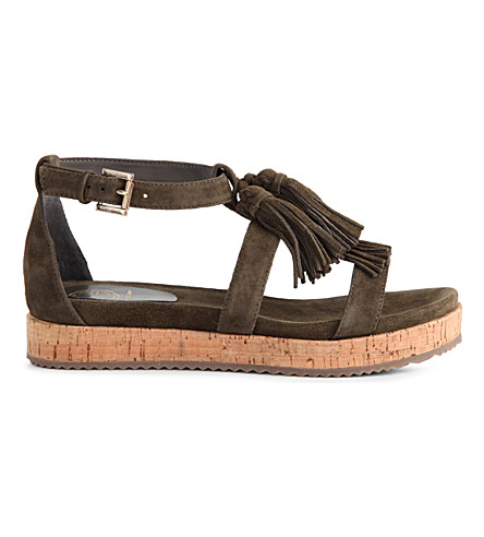 KG BY KURT GEIGER Meadow suede sandals (Khaki