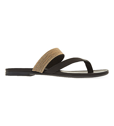 KG KURT GEIGER Mae leather sandals (Black