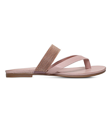 KG KURT GEIGER Mae leather sandals (Nude