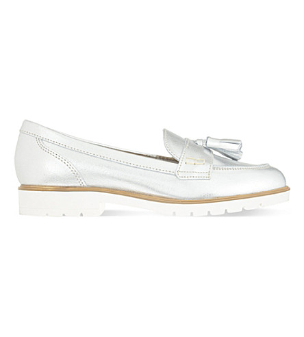 KG KURT GEIGER Kola leather loafers (Silver