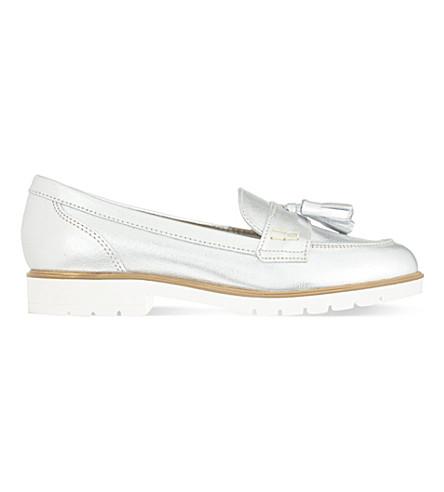 KG KURT GEIGER Kola leather loafers (Silver