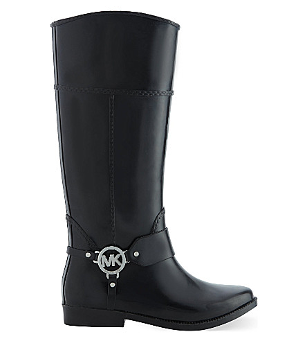 MICHAEL MICHAEL KORS Fulton harness wellington boots (Blk/other