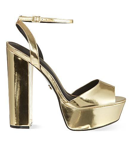 KG KURT GEIGER Hero high sandals (Gold
