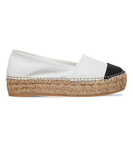 KG KURT GEIGER Mellow leather espadrilles (White/blk