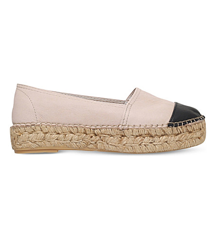 KG KURT GEIGER Mellow leather espadrilles (Nude