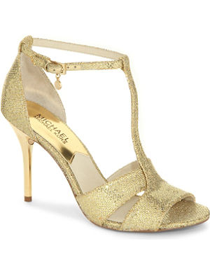 MICHAEL MICHAEL KORS Diana open-toe metallic sandals