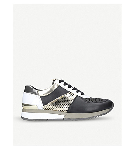 MICHAEL MICHAEL KORS Allie metallic leather trainers (Blk/other