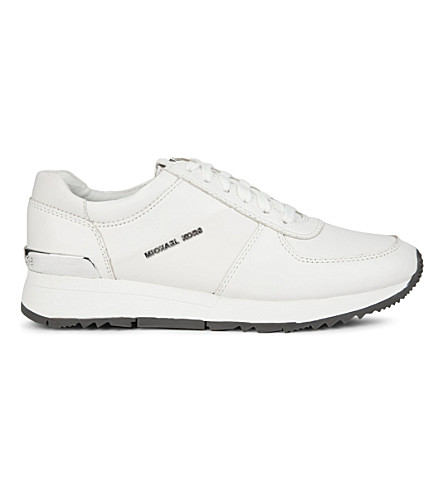 MICHAEL MICHAEL KORS Allie leather trainers (White