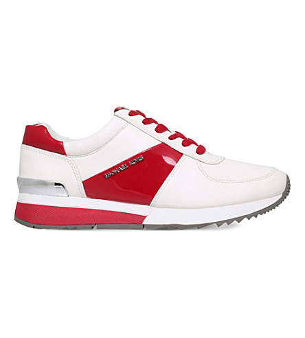 MICHAEL MICHAEL KORS Allie leather trainers (White/red