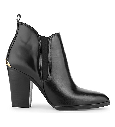 MICHAEL MICHAEL KORS Brandy leather ankle boots (Black