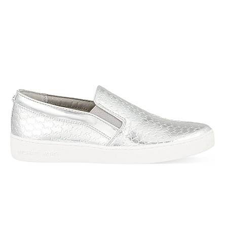 MICHAEL MICHAEL KORS Colby slip-on trainers (Silver