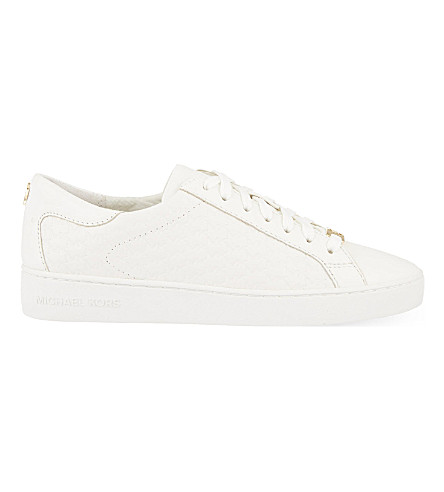 MICHAEL MICHAEL KORS Colby leather trainers (White