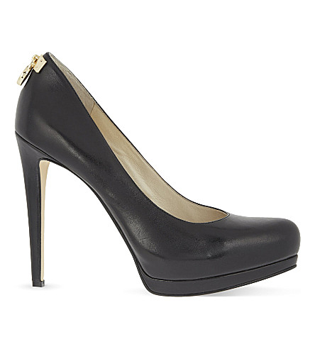 MICHAEL MICHAEL KORS Hamilton leather courts (Black