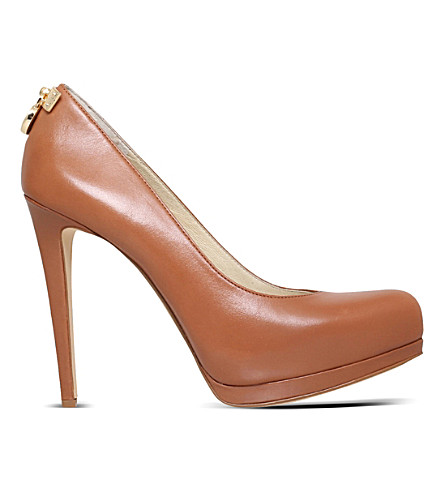 MICHAEL MICHAEL KORS Hamilton leather courts (Tan