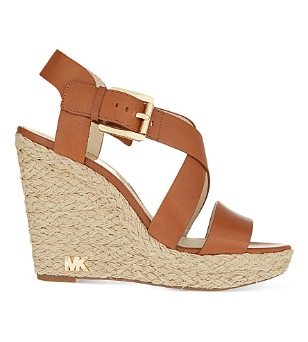 MICHAEL MICHAEL KORS Giovanna wedge sandals (Brown