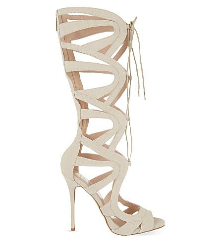 CARVELA Gylda 2 knee-high heeled sandals (Nude