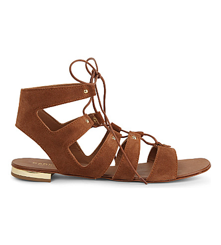 CARVELA Suede gladiator sandals (Rust