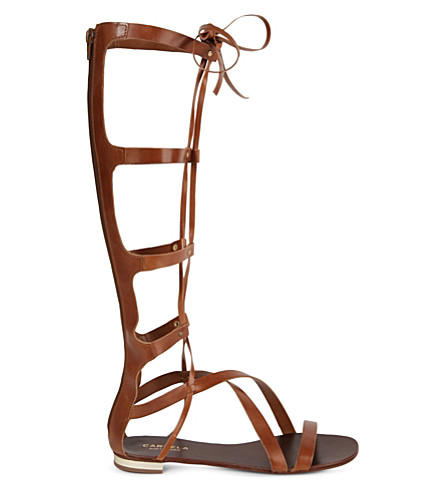CARVELA Kiki knee-high sandals (Tan