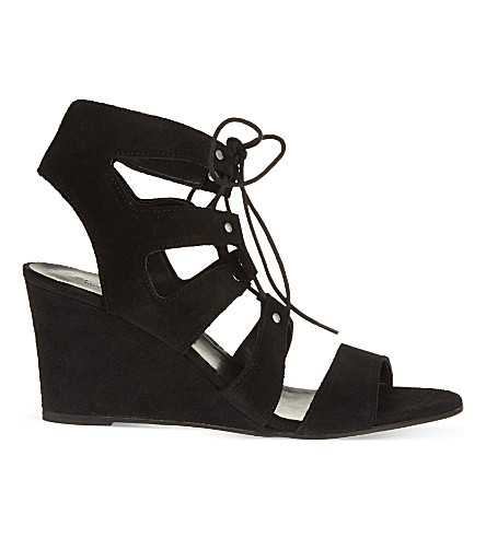 CARVELA Khristie suede wedge sandals (Black