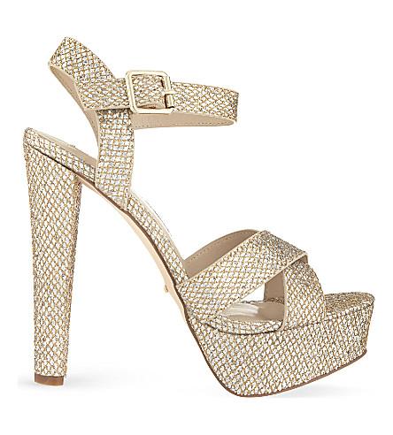 CARVELA Glitter heeled sandals (Silver