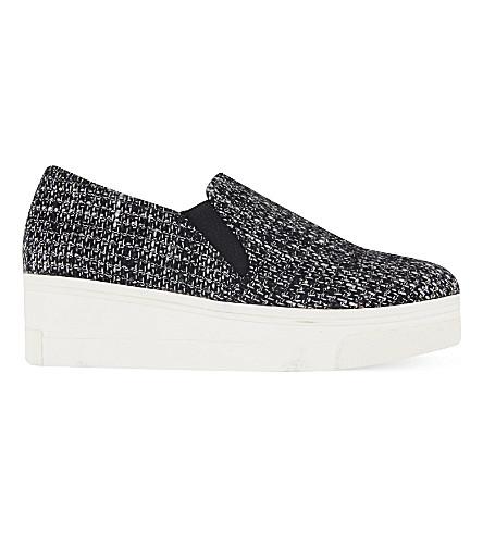 KG KURT GEIGER Lizard tweed flatform slip on sneakers (Grey/other