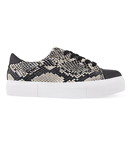 MISS KG Loco snake print trainers (Beige+comb