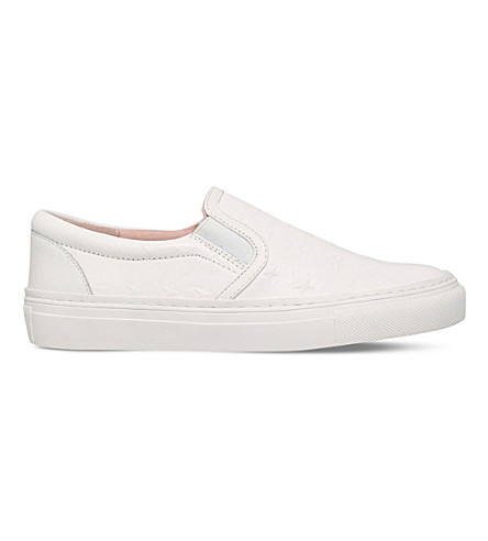 KG KURT GEIGER Lyon leather trainers (White