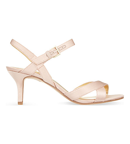 NINE WEST Genevra2 satin heeled sandals (Pale pink