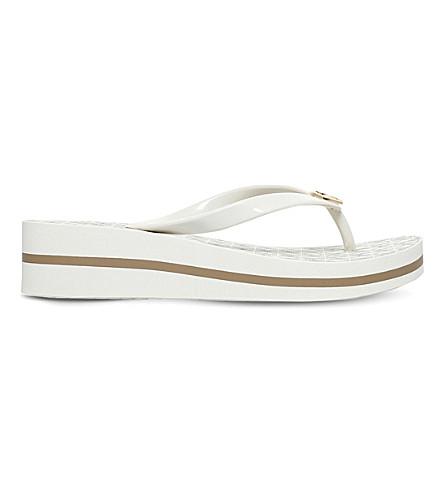 MICHAEL MICHAEL KORS Bedford flip flops (Cream+comb