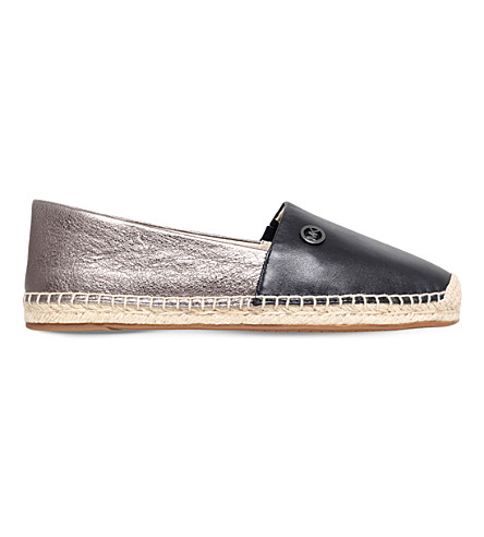 MICHAEL MICHAEL KORS Kendrick leather espadrilles (Black/comb