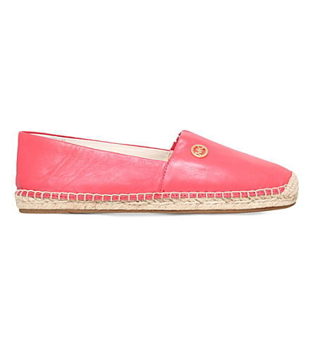 MICHAEL MICHAEL KORS Kendrick leather espadrilles (Salmon