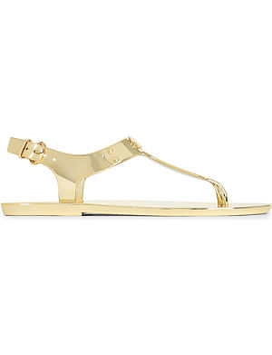 MICHAEL MICHAEL KORS Metallic jelly sandals