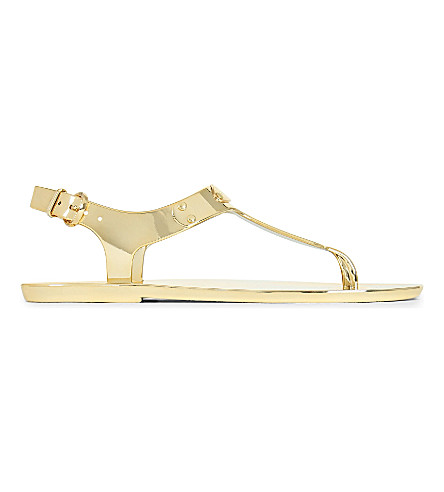 MICHAEL MICHAEL KORS Metallic jelly sandals (Gold