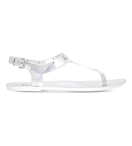 MICHAEL MICHAEL KORS Metallic jelly sandals (Silver