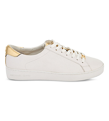 MICHAEL MICHAEL KORS Irving leather trainers (White