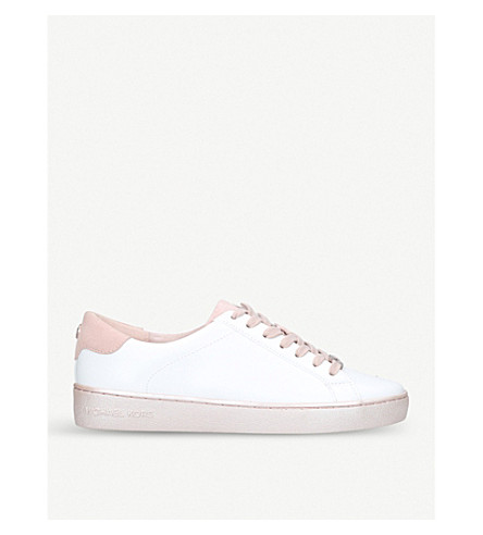 MICHAEL MICHAEL KORS Irving leather trainers (White/oth