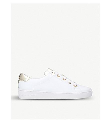 MICHAEL MICHAEL KORS Irving low-top leather trainers (Gold+comb