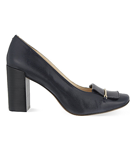 NINE WEST Newgyrl leather courts (Navy