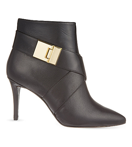 NINE WEST Palencia leather ankle boots (Black
